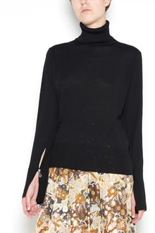 CHLOÉ wool turtle-neck pullover with pearl detail on sleeve
