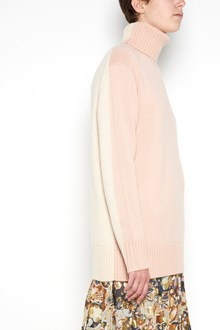 CHLOÉ wool bicolor turtle neck pullover