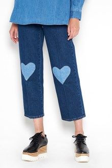 STELLA MCCARTNEY Jeans with 'Hearts' patches