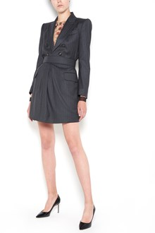 DSQUARED2 pinstriped wool mini dress  with buttons closure and waist belt