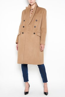 DSQUARED2 Long wool coat with buttons closure