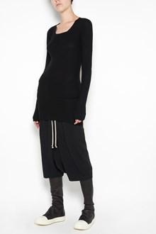 RICK OWENS Round neck cachemire pullover