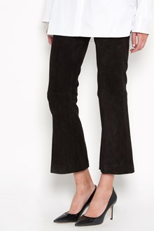 THE ROW 'Athby' lamb leather  cropped pant