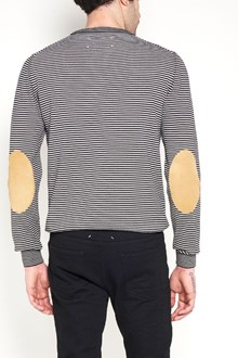 MAISON MARGIELA Bicolor stipe cardigan with patches