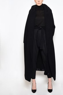 MAX MARA ATELIER 'Dramma' long coat with belt and large collar as a hood
