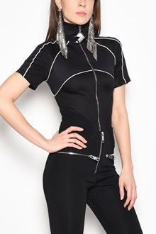 VERSUS VERSACE Turtle-neck zipped body open on the back