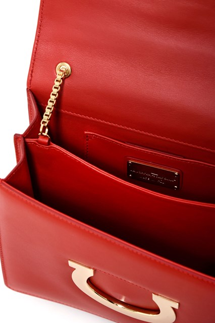 SALVATORE FERRAGAMO 'Thalia'  calf leather clutch