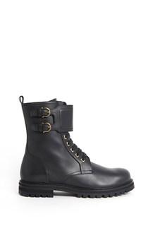 SALVATORE FERRAGAMO calf leather 'Crotone' laced boots