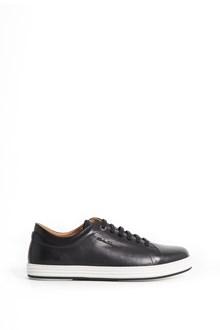SALVATORE FERRAGAMO calf leather 'Newport' laced sneaker
