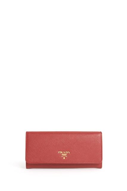 PRADA 'Continental' Saffiano leather wallet