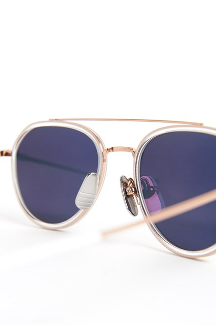 THOM BROWNE Rose gold crystal glasses