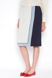 SALVATORE FERRAGAMO wrap-around skirt  with foulard print