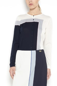 SALVATORE FERRAGAMO cotton 'Foulard' printed cardigan