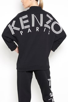 KENZO Cotton v-neck sweater printed on the backside