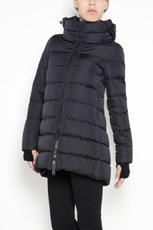 HERNO medium lenght padded jacket with zip closure , zipped pockets and knitted details