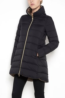 HERNO long reversable zipped parka ,goose feathers lined