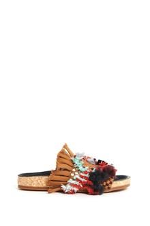 CHLOÉ 'Kareen' calf leather flat sandal