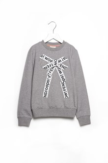 FENDI KIDS crewneck sweatshirt with central bow and lettering print