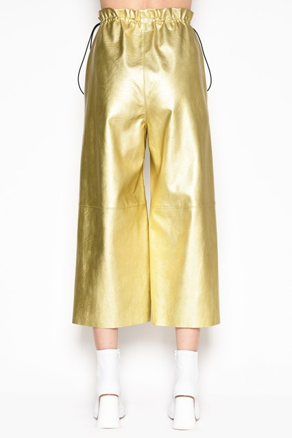 MM6 BY MAISON MARGIELA Cropped eco leather pants