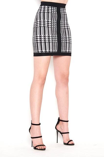 BALMAIN 'Price of Galles' printed skirt