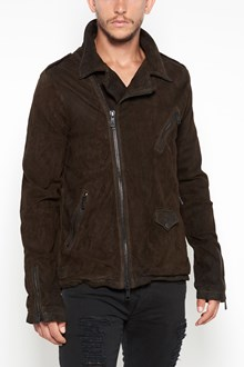 GIORGIO BRATO Leather jacket with side zip