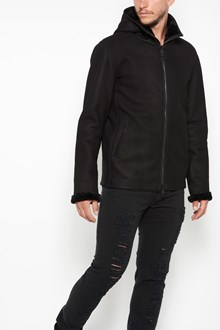 GIORGIO BRATO Shearling jacket with zip and hoodie