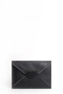 VALENTINO GARAVANI leather studded clutch