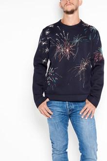 VALENTINO Cotton neoprene 'Fireworks' printed sweatshirt