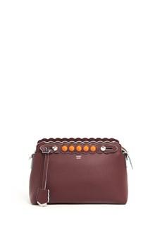 FENDI 'By the way' orange studded leather bag