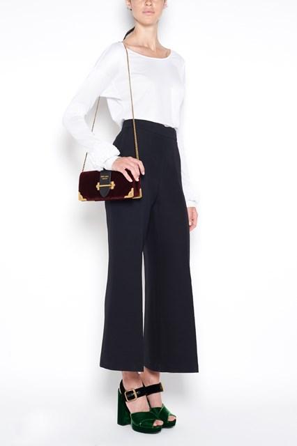 PRADA 'Cahier' velvet clutch