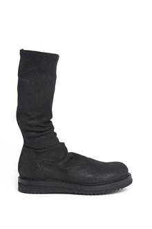 RICK OWENS Leather creeper sock shoe