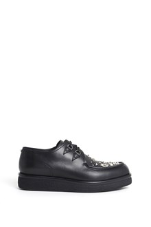 VALENTINO GARAVANI creepers v-creep calf leather sneaker with studs