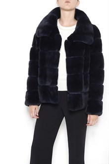 YVES SALOMON short 'Rex' lapin shearling with buttons closure