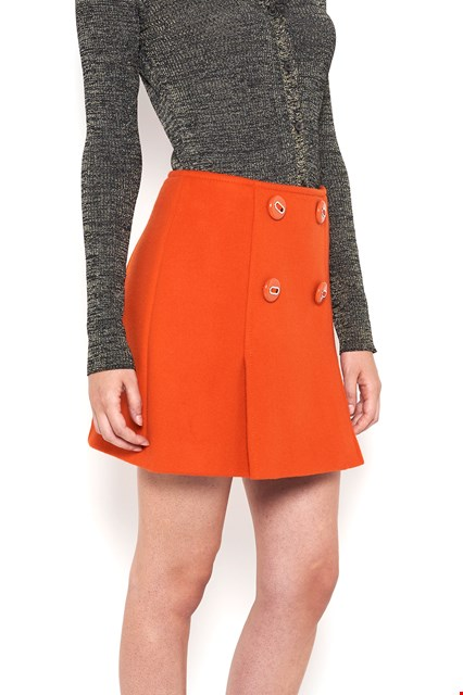 PRADA wool mini skirt with buttons