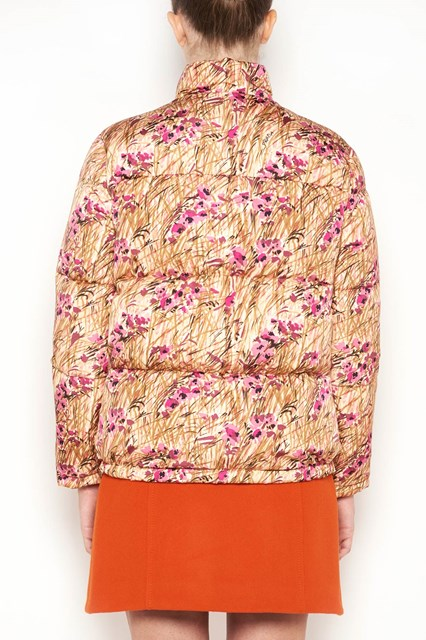 PRADA LINEA ROSSA 'Papavero' printed padded jacket with zip closure
