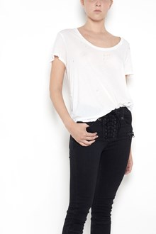UNRAVEL distressed jersey basic t-shirt