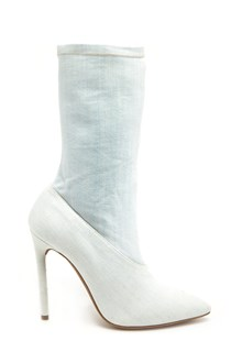 YEEZY Stretch ankle boots in bleached denim