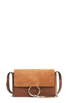 CHLOÉ 'Faye' suede and leather crossbody bag