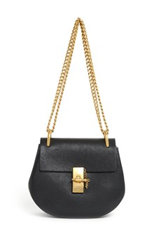CHLOÉ 'Drew' calf leather shoulder bag with  adjustable chain