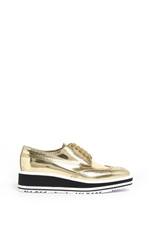 PRADA Leather mirror lace up shoes