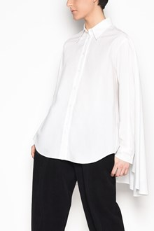 MM6 BY MAISON MARGIELA Cotton high low long sleeved shirt with collar
