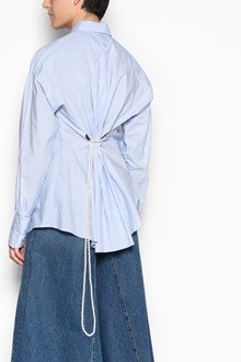 MM6 BY MAISON MARGIELA Cotton shirt with pearls belt