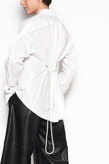 MM6 BY MAISON MARGIELA Cotton button up oversize shirt with pearl tie in the back