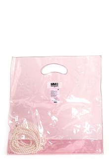 MM6 BY MAISON MARGIELA Pvc tote with pearls