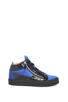 GIUSEPPE ZANOTTI DESIGN Leather hi-top sneakker with zippers
