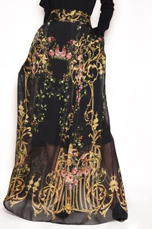ALBERTA FERRETTI Printed chiffon long wrap around skirt