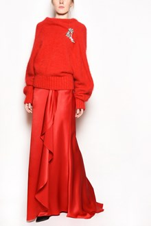 ALBERTA FERRETTI Mohair cardigan with oversize sleeves