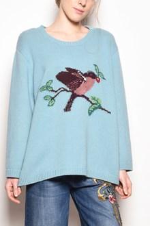 ALBERTA FERRETTI 'Bird' embroidered oversize wool sweater