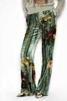 ALBERTA FERRETTI Velvet printed fantasy pants with pockets