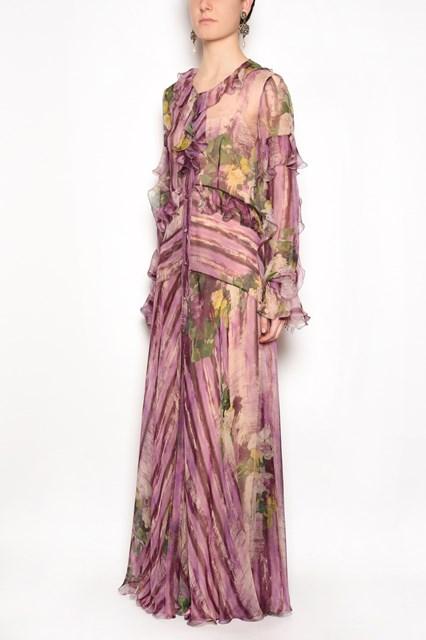 ALBERTA FERRETTI flower printed dress